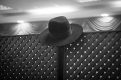 Rabbi Hat. Hanging on the partition between the masculine and feminine side to separate the Jewish wedding Stock Photography