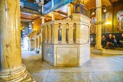 The rabbi`s Bimah in Ben Ezra Synagogue, Cairo, Egypt Royalty Free Stock Photos