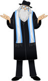 Rabbi With Talit Is Unsure. Vector illustration of a Rabbi saying I dont know Royalty Free Stock Photo
