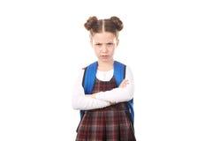 Rabbia di sensibilità della ragazza della scuola Fotografie Stock