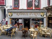 Rabbie Burns Pub, Koninklijke Mijl, Edinburgh Schotland stock afbeelding