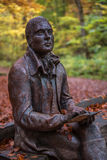 Rabbie Burns. Scots poet Rabbie Burns at the Birks of Aberfeldy, Perthshire in the Scottish Highlands Royalty Free Stock Images