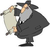 Rabbin affichant un défilement illustration stock
