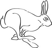 Rabbit. Silhouette, isolated. Cute animal vector illustration Royalty Free Stock Photos