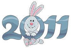 Rabbit. Symbol of 2011 year Royalty Free Stock Photos