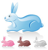 Rabbit. Isolated on a white background Royalty Free Stock Photography