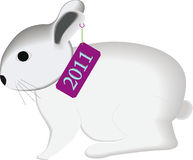 The rabbit 2011. The rabbit symbol in 2011.Illustration Royalty Free Stock Images