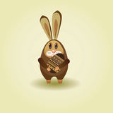 Rabbit. Easter song. Chocolate bunny with eggs for Easter Royalty Free Stock Photos