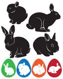 Rabbit. The figure shows the rabbit and Easter eggs Stock Image