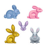 Rabbit. Set on a white background Stock Images