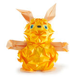 Rabbit. Origami figure of hare (isolated on white Royalty Free Stock Photo
