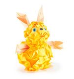 Rabbit. Origami figure of hare (isolated on white Stock Photography