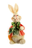 Rabbit. Handmade porcelain - figure of rabbit over white Royalty Free Stock Images