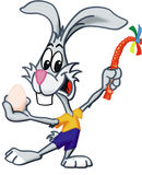 Rabbit. A happy rabbit with Easter egg Stock Images