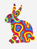 Rabbit abstract color Royalty Free Stock Photos