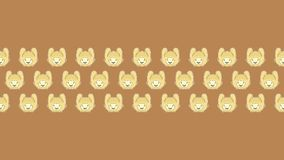 100 rabbit for amazing wallpaper with brown background. Rabbit ilustration for wallpaper, with brown background. smile rabbit. this wallpaper can use for Royalty Free Stock Images