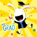 Rabbit Animal Congratulation New Graduate Cute Cartoon Vector Stock Image