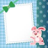 Rabbit. baby card. Royalty Free Stock Photo