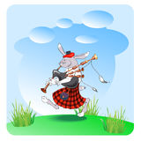 Rabbit with bagpipes Royalty Free Stock Photography