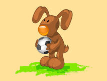 Rabbit with ball Royalty Free Stock Image