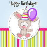 Rabbit with balloon Stock Images
