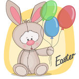 Rabbit with balloons Royalty Free Stock Photography