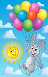 Rabbit with balloons theme image 3 Royalty Free Stock Image