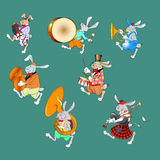 Rabbit band color Royalty Free Stock Images
