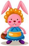 Rabbit with basket Royalty Free Stock Photos