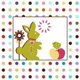 Rabbit with Bird Stock Photos