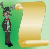 Rabbit and black top hat Stock Photos