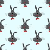 Rabbit on a blue background illustration seamless pattern. Rabbit on a blue background seamless pattern quality illustration for your design royalty free illustration