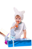 Rabbit boy Royalty Free Stock Image