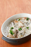 Rabbit braised in cream sauce Stock Photos