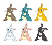 Rabbit bunny cartoon vector illustration Royalty Free Stock Images