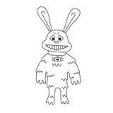 Rabbit bunny mutant vector illustration Stock Image