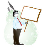 Rabbit in a business suit Stock Photo