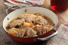 Rabbit and cabbage stew Stock Photos