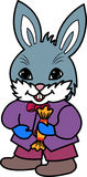 Rabbit with candy Royalty Free Stock Image