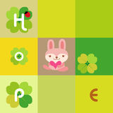 Rabbit card Stock Photo
