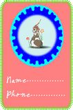 Rabbit card Royalty Free Stock Photos