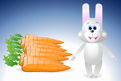 Rabbit and carrot Royalty Free Stock Image