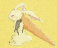 Rabbit&Carrot Stock Images