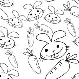 Rabbit and carrot seamless pattern design - vector illustration vector illustration