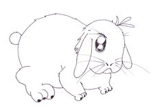 Rabbit cartoon Stock Photo