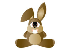 Rabbit cartoon. An illustrated cartoon of a cute little brown rabbit with big buck teeth Royalty Free Stock Images