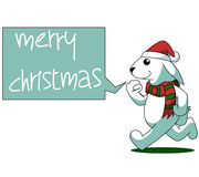 Rabbit Cartoon Christmas Illustration Royalty Free Stock Images