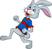 Rabbit cartoon running Stock Photography