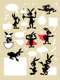Rabbit cartoon symbols Stock Photos