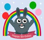 Rabbit celebrating a birthday vector illustration
